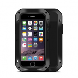 Love MEI Outdoor Metall Bumper Hülle für Apple iPhone 7 4.7 Schutzhülle Schwarz