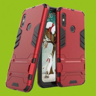 Für Samsung Galaxy A7 A750F 2018 Metal Style Outdoor Rot Tasche Hülle Cover Neu