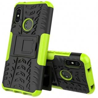 Für Xiaomi MI MAX 3 Hybrid Case 2teilig Outdoor Grün Tasche Hülle Cover Etui Neu