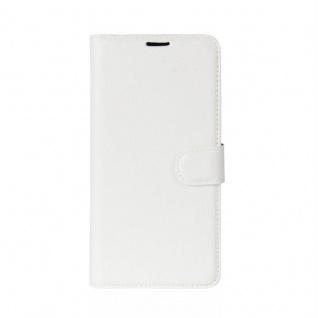Tasche Wallet Premium Weiß für Sony Xperia XZ2 Hülle Case Cover Schutz Etui Neu - Vorschau 2