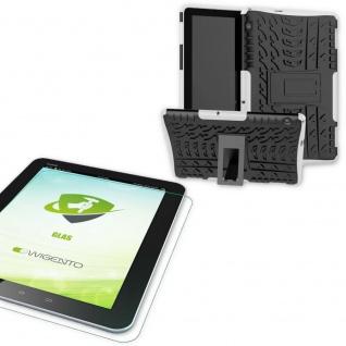 Für Huawei MediaPad T5 10.1 Zoll Hybrid Outdoor Weiß Tasche 0.4 H9 Schutzglas