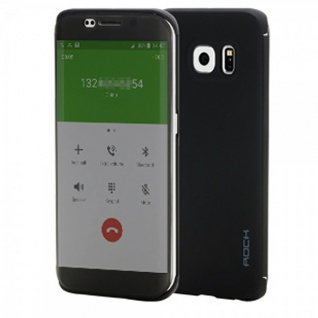ROCK Shadow Smartcover Schwarz für Samsung Galaxy S6 Edge Plus G928 F Tasche Neu