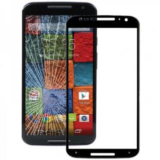 Displayglas Glas Schwarz für Motorola Moto X 2. Gen 2014 Zubehör Reparatur KIT