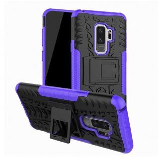 Hybrid Case 2teilig Outdoor Lila Tasche Hülle für Samsung Galaxy S9 Plus G965F