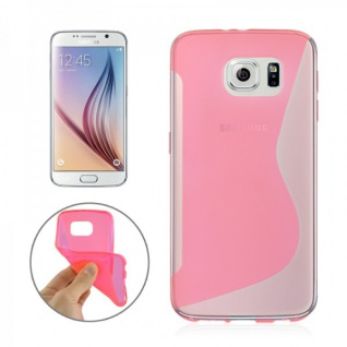 Silikonhülle S-Line Pink Cover Hülle für Samsung Galaxy S6 G920 G920F Kappe Case