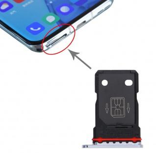 Für OnePlus 9 Pro Dual Sim Karten Halter Adapter Silber Ersatzteil Reparatur