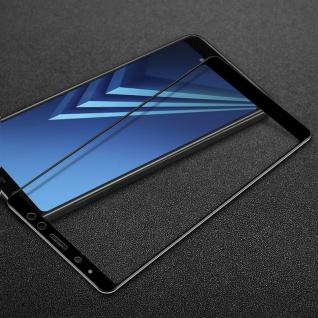 3D Premium 0, 3 mm H9 Hart Glas Schwarz Folie für Samsung Galaxy A8 Plus A730F