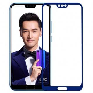 Für Huawei Honor 10 0, 3 mm H9 2.5D Panzerglas Blau Folie Schutz Hülle Ecken Neu