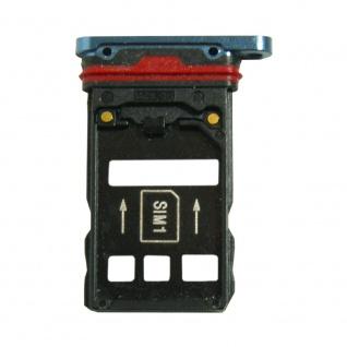 Für Huawei Mate 20 Pro Karten Halter Sim Tray Schlitten Holder Blau Ersatz