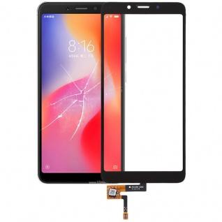 Reparatur Displayglas Touch Screen für Xiaomi Redmi 6 LCD Schwarz Ersatz Scheibe