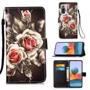 Für Xiaomi Redmi Note 10 Pro Kunst-Leder Handy Tasche Motiv 8 Hülle Case Etuis