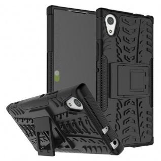 Hybrid Case 2teilig Outdoor Schwarz Tasche Hülle für Sony Xperia XA1 Etui Cover