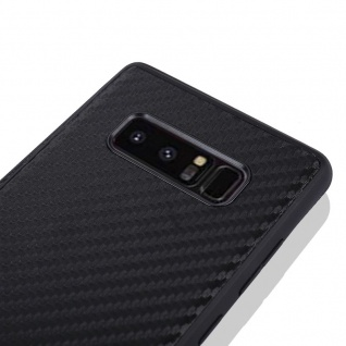 Hybridcase Carbon Schwarz Hülle für Samsung Galaxy Note 8 N950 N950F Tasche Neu