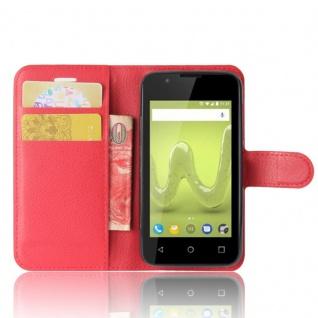 Tasche Wallet Premium Rot für Wiko Sunny 2 Hülle Case Cover Etui Schutz Zubehör - Vorschau 4