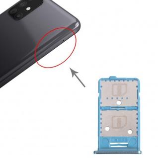 Dual Sim Karten + Micro SD Halter Card Tray für Samsung Galaxy M31s Grün