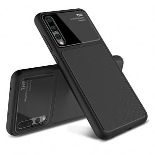 Design Cover Schwarz für Huawei P20 Pro TPU Silikon Schutz Tasche Hülle Case