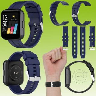 Für Huawei Watch GT 22mm Latano Fitness Watch Uhr Kunststoff Silikon Armband Dunkel Blau