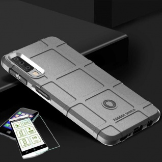 Für Samsung Galaxy A9 A920F Tasche Shield TPU Silikon Hülle Grau + H9 Glas Cover