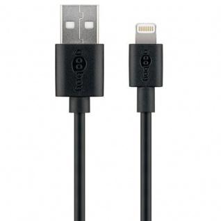 USB Sync Ladekabel Datenkabel MFi 8Pin Kabel für Apple iPhone iPad iPod Schwarz - Vorschau 2