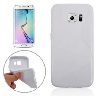 Silikonhülle S-Line Weiß Cover Case für Samsung Galaxy S6 Edge G925 G925F Tasche