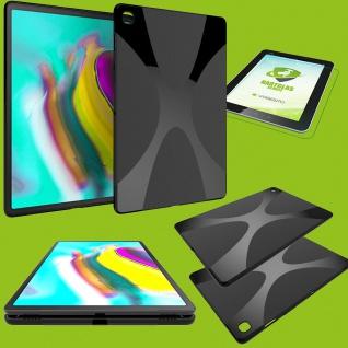 Silikon Hülle Tasche Schwarz für Apple iPad Mini 5 7.9 2019 Cover + Hart Glas