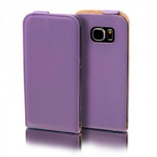 Flip Tasche Deluxe Lila für Samsung Galaxy S5 Neo SM G903F Hülle Case Etui Neu