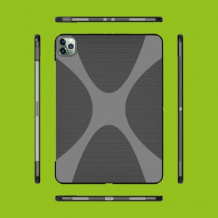 Silikon X-Line TPU Case Schwarz Hülle Tasche für Apple iPad Pro 11.0 2020 / 2021 Cover