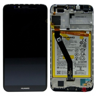 Huawei Display LCD Rahmen für Y6 2018 Service Pack 02351WLJ Schwarz Batterie Neu