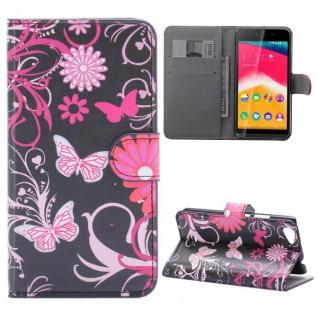 Schutzhülle Muster 4 für Wiko Rainbow Jam Bookcover Tasche Hülle Wallet Case Neu