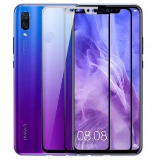 2x Für Huawei P Smart Plus 3D Display 0, 3 mm H9 Hart Glas Schwarz Schutz Folie