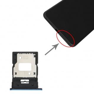 Dual Sim Card Micro SD Tray für Xiaomi Mi 11 Lite Blau Karten Halter