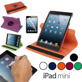 Hülle Tasche Rotierend 360 Grad für Apple iPad Mini Zubehör SET Folie + Stift - Vorschau 3
