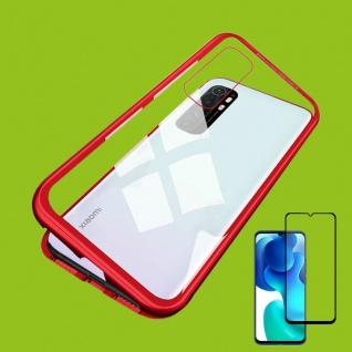 Für Xiaomi Mi Note 10 Lite Magnet Handy Tasche Bumper Hülle Rot + 4D H9 Glas Neu