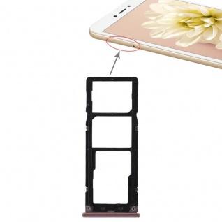 Für Xiaomi Redmi Note 5A Karten Halter Sim Tray Schlitten Holder Ersatz Pink Neu