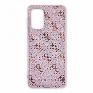 Guess Samsung Galaxy A52 5G Pink Glitter Hard Case Cover Schutzhülle Zubehör