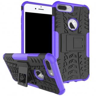 New Hybrid Case 2teilig Outdoor Lila für Apple iPhone 8 und 7 Plus 5.5 Tasche