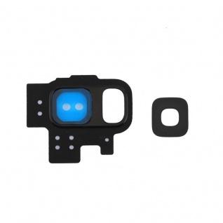 Für Samsung Galaxy S9 G960F Kamera Ring Glas Abdeckung Rahmen Cover Schwarz Neu