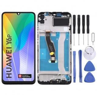 Für Huawei Y6P Display Full LCD + Rahmen Touch Reparatur Ersatzteil Schwarz Neu