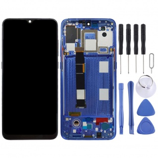 Für Xiaomi Mi 9 Display Blau Full LCD Einheit Touch mit Rahmen Ersatz Reparatur