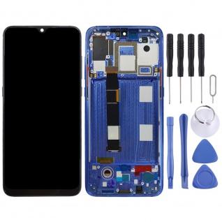 Für Xiaomi Mi 9 Display Blau Full OLED LCD Einheit Touch mit Rahmen Ersatz Neu