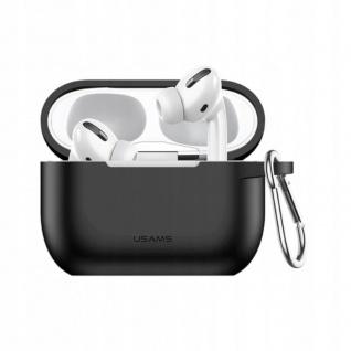 USAMS Apple Airpods Pro Cover Schwarz Karabiner Schutzhülle Tasche Case Etui