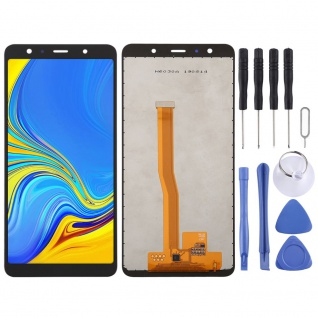 Für Samsung Galaxy A7 2018 A750F Display Full LCD Touch Screen Reparatur Schwarz