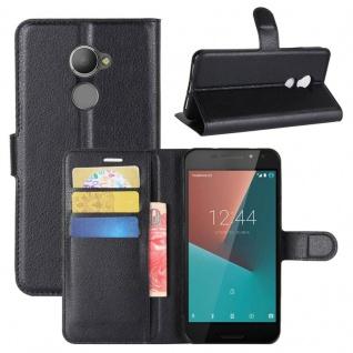Tasche Wallet Premium Schwarz für Vodafone Smart N8 Hülle Case Cover Etui Schutz