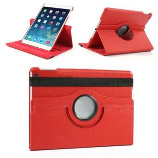 Design Tasche 360 Grad Rotation Case Zubehör für Apple iPad Air 2 Neu rot
