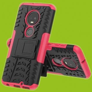 Für Motorola Moto G7 / G7 Plus Hybrid 2teilig Outdoor Pink Tasche Etuis Hülle