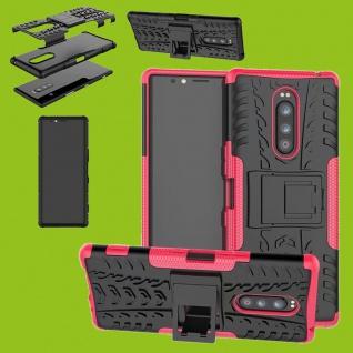 Hybrid Case 2teilig Outdoor Pink Tasche für Sony Xperia 1 6.5 Zoll Etuis Etuis