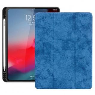 Smartcover Blau für Apple iPad Pro 11.0 Zoll 2018 Tasche Hülle Pen Case Zubehör