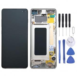 Samsung Display LCD Komplettset GH82-18849B Prism Weiß für Galaxy S10 Plus G975