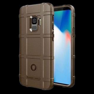Für Samsung Galaxy S9 G960F Shield Series Outdoor Braun Tasche Hülle Cover Case