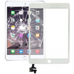Touch Screen Glas Display mit IC Chip kompatibel für Apple iPad Mini 3 Weiß Neu